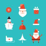 Christmas and New Year icon set Royalty Free Stock Images