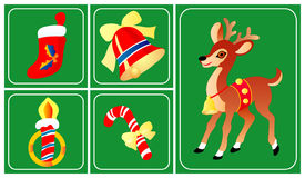 Christmas and New Year icons Stock Photography