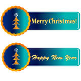 Christmas and New Year icons Royalty Free Stock Images