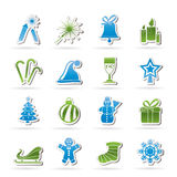 Christmas and new year icons Stock Image