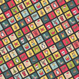Christmas,new year icons button background.Doodles Royalty Free Stock Photo
