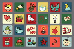 Christmas,New year icons button set Stock Image