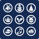 Christmas and New Year icons (set 1, part 2). Christmas and New Year 9 icons (set 1, part 2 Royalty Free Stock Photos