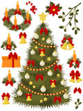 Christmas and New Year icons set Stock Images