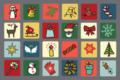 Christmas,new year icons set Royalty Free Stock Image