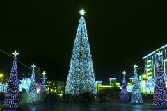 Christmas and New Year illumination Royalty Free Stock Images