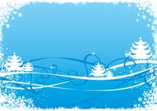 Christmas / New Year illustration. Blue Christmas / New Year illustration background / card Stock Image