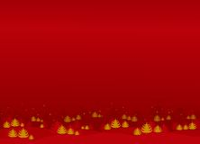 Christmas / New Year illustration. Red Christmas / New Year illustration background / card Royalty Free Stock Photography