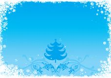 Christmas / New Year illustration. Blue Christmas / New Year illustration background / card Royalty Free Stock Images