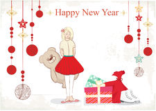 Christmas and New Year illustration Stock Photography