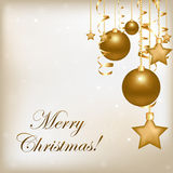 Christmas And New Year Illustration. Vector Royalty Free Stock Photo
