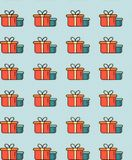 Christmas and new year illustrations for the holidays. 3D icons and patterns, Santa Flatley. Gifts and 2019 inscription stock photography