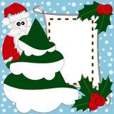 Christmas and New Year invitation with cute Santa Stock Photo