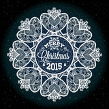 Christmas and New year label, decoration for you design Stock Photos