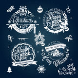 Christmas and New year label, decoration for you design Royalty Free Stock Photography