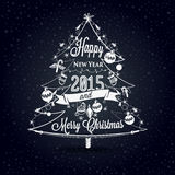 Christmas and New year label, decoration for you design Stock Image