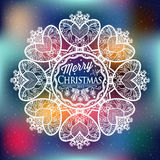 Christmas and New year label, decoration for you design Royalty Free Stock Photo