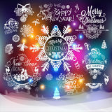 Christmas and New year labels Royalty Free Stock Photo
