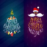 Christmas and New Year Labels Royalty Free Stock Image