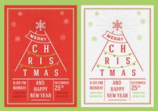 Christmas and New Year leaflet Royalty Free Stock Photography