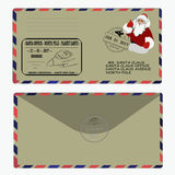 Christmas, new year. letter to Santa Claus. template, envelope, stamp. vector vector illustration