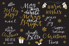 Christmas and New Year 2016 lettering collection Stock Image