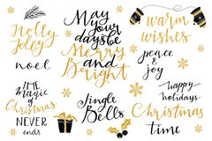 Christmas and New Year 2016 lettering collection Stock Images