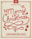 Christmas and New Year lettering poster. Stock Image