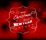 Christmas and new year light vector background Stock Photography