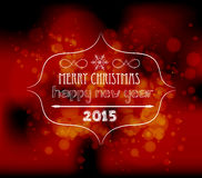 Christmas and new year light vector background Stock Image