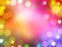 Christmas and New Year lights bokeh banner and border Royalty Free Stock Photography