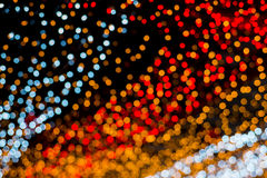 Christmas and New Year Lights Bokeh. Decoration Royalty Free Stock Photo