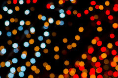 Christmas and New Year Lights Bokeh. Decoration Stock Photography
