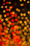 Christmas and New Year Lights Bokeh. Decoration Royalty Free Stock Images