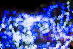 Christmas and New Year Lights Bokeh. Decoration Royalty Free Stock Photography