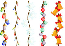 Christmas, New Year lights and decorations Royalty Free Stock Photography