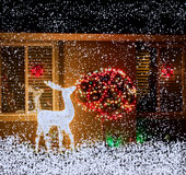 Christmas-New Year lights Stock Photos