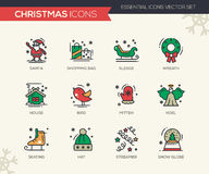 Christmas and New Year - line design icons set Royalty Free Stock Images