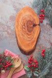Christmas and New Year menu board Royalty Free Stock Photos