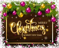 With Christmas and new year Stock Photography