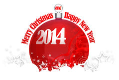 Christmas and New Year. Merry Christmas and Happy New Year 2014 royalty free illustration