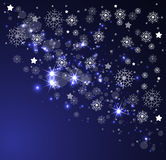 Christmas and new year night sky. Background Royalty Free Stock Image