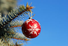 Christmas and New Year Ornament Stock Photo