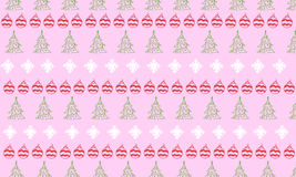 Christmas and New Year ornament on pink background. Composition for greeting card design royalty free illustration