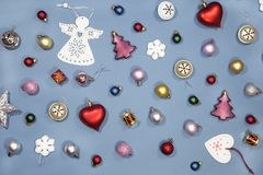 Christmas and New Year ornaments stock photo
