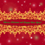 Christmas and New Year ornate cards with holiday symbol star on winter background in modern style. Stock Photo