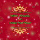 Christmas and New Year ornate cards with holiday symbol star on winter background in modern style. Stock Photography