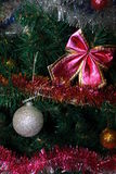Christmas and New Year paint. NChristmas balls, garlands, tree, holiday Stock Photo