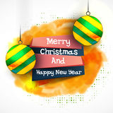 Christmas and New Year Party celebrations banner. Stock Photo