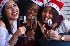 Christmas and new year party. stock image